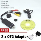 Spesifikasi Hot Sale Easycap Usb 2 Mudah Cap Video Tv Dvd Vhs Dvr Menangkap Adaptor Usb Video Capture Video Menangkap Perangkat Merk Zomtop