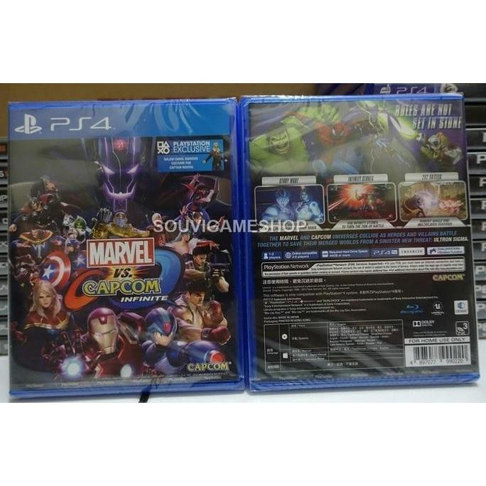 HOT SALE - ORIGINAL - PS4 MARVEL VS CAPCOM INFINITE REG 3 ASIA ENGLISH