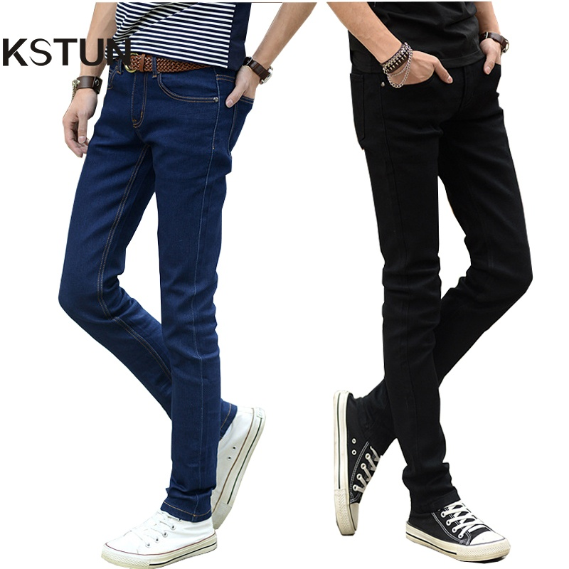 Hot Sale Pria Jeans Pensil Celana Stretch Jeans Men Brand Casual Slim Fit Pants Skinny Boys