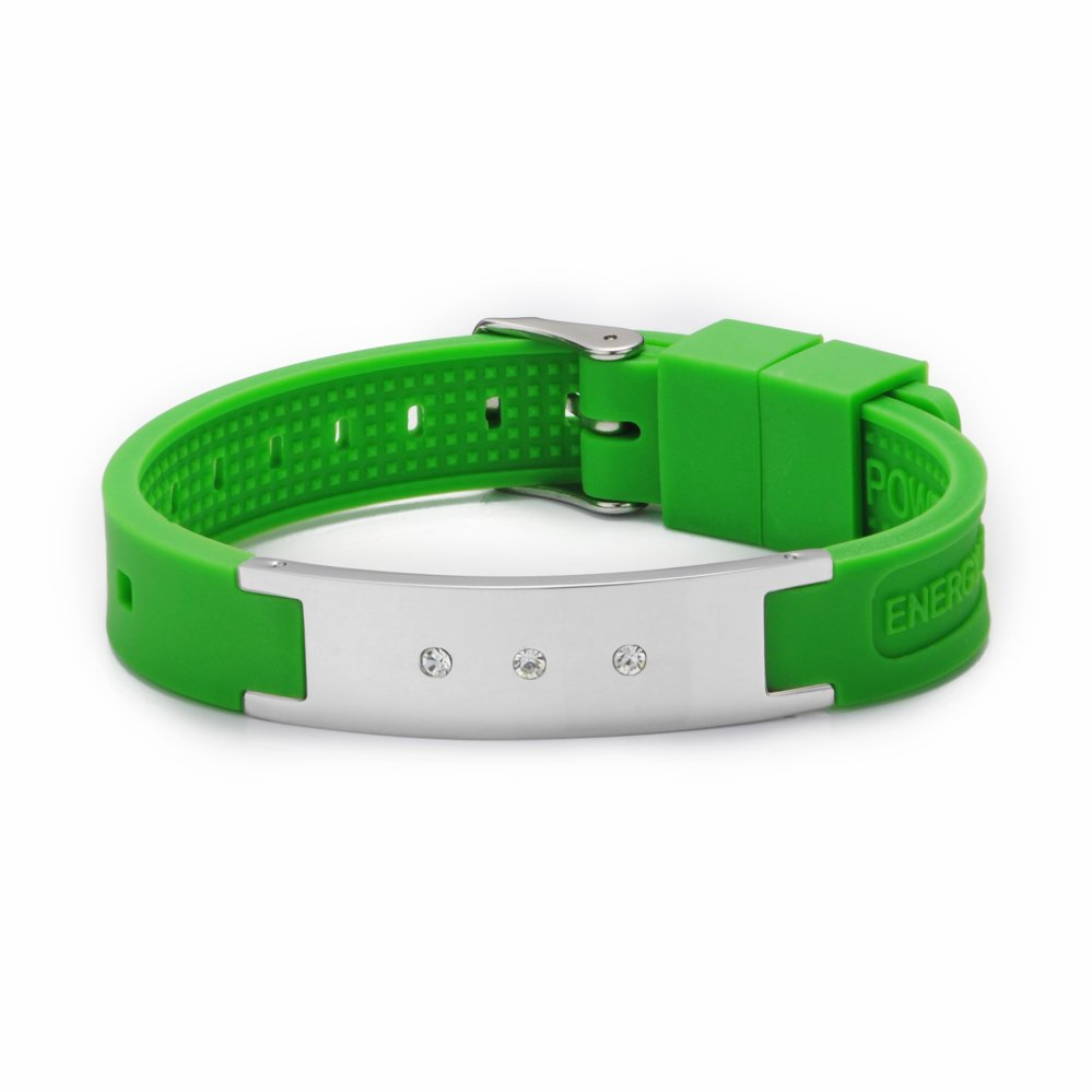 Hot Sale Putih Power Energy Hologram Gelang Gelang Menahan Keseimbangan Ion Magnetic Terapi Fashion Silicone Band Gratis Pengiriman-Intl
