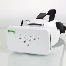 Hot Sale! RITECH RIEM3 Kulit 3D Cardboard Virtual Reality VR Kacamata Headset Vrbox untuk 3.5-6 Ponsel-Intl