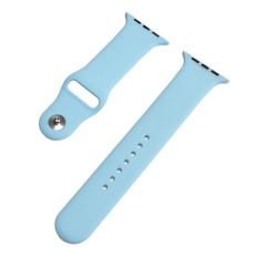 Jual Hot Penjualan 38Mm M L 1 1 Ukuran Tali Silikon Band Asli Karet Watchband Untuk Apple Watch Light Biru Intl Online