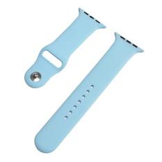 Toko Hot Penjualan 38Mm M L 1 1 Ukuran Tali Silikon Band Asli Karet Watchband Untuk Apple Watch Light Biru Intl Terdekat