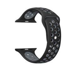 Harga Hot Penjualan 42Mm 1 1 Ukuran Tali Silicon Olahraga Watch Band Tali Untuk Apple Watch Hitam Dan Abu Abu Intl Oem Ori