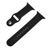 Jual Hot Penjualan 42Mm M L 1 1 Ukuran Tali Silikon Band Asli Karet Watchband Untuk Apple Watch Hitam Intl Murah