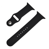 Review Toko Hot Penjualan 42Mm M L 1 1 Ukuran Tali Silikon Band Asli Karet Watchband Untuk Apple Watch Hitam Intl Online