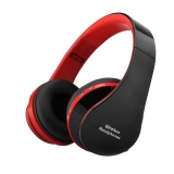 Beli Hot Penjualan Aye Beau Nx 8252 Nirkabel Bluetooth Earphone Big Audio Cordless Headphone Dengan Mic Untuk Komputer Ponsel Merah Intl Oem Murah