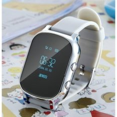 Hot T58 GPS Kid Aman Smart Watch Pribadi Locator Finder Locator Tracker Anti Kehilangan Smart Watch Elder Gelang untuk Kid Elder Anti Lelah Nyaman
