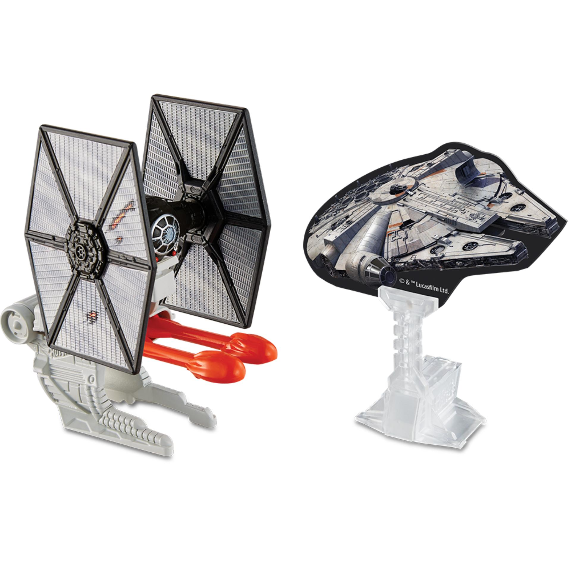 Diskon Hot Wheels™ Star Wars™ Blast Attack Starship Vehicle Episode 7 Villain Starfighter Battle Damage