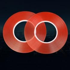 Seksi! ganda Sisi Tape 2 Mm 50 M Perekat Akrilik Yang Kuat Merah Film Bening Stiker untuk Ponsel Panel LCD Tampilan layar Perbaikan-Internasional