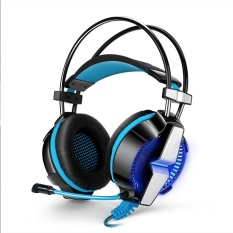 [HOT] Profesional Sport Headset Headset Headphone Earphone Headband dengan MIC Stereo Bass LED Light untuk PS4 PC Komputer Laptop Ponsel-Intl