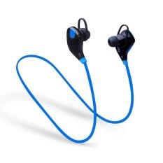 Harga Hotsale Qy7S Olahraga Nirkabel Stereo Bluetooth 4 1 Edr Earphone Dengan Mic Earbud Headset Biru Intl Baru