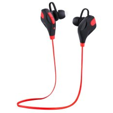 Tips Beli Hotsale Qy7S Sports Wireless Stereo Bluetooth 4 1 Edr Earphones With Mic Earbuds Headset Red Intl Yang Bagus