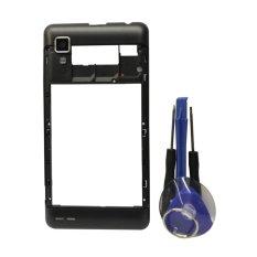 Pelat Rangka Panel LCD Tengah Bingkai Bezel untuk Lenovo P780 Perumahan dengan Kamera Lensa Kaca-Intl