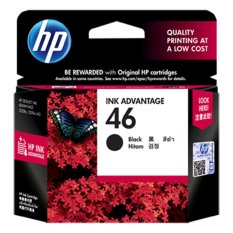 Beli Hp 46 Black Ink Cartridge Hitam Murah