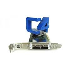 HP 617824-001 SC08e SAS host bus adapter (HBA) board - Has two x4 external SFF8088 mini-SAS connectors - Supports 6Gb/sec transfer rate SAS, and 3Gb/sec transfer rate SATA - Requires one low profile (or full height) x8 PCIe slot - intl
