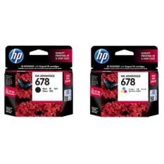 Jual Hp 678 Original Black Color Ink Cartridge 1 Set 2 Buah Import
