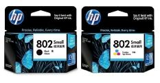 Situs Review Hp 802 Original Black Color Ink Cartridge 1 Set 2 Buah
