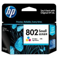 HP INK AND TONER CARTRIDGE 802 SMALL TRI-COLOR ORIGINAL (CH562Z)