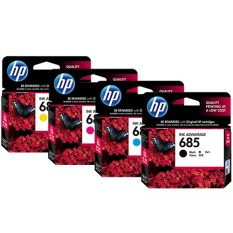 Promo Hp Cartridge 685 1 Set Black Cyan Magenta Yellow