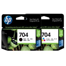 HP Catridge 704 Black and Color Ink (paket isi 2)