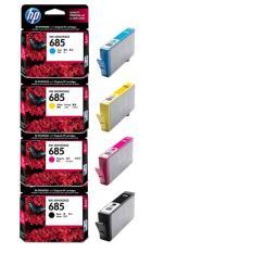 HP INK AND TONER CARTRIDGE 685 SET (685 BLACK (CZ121AA), 685 CYAN (CZ122AA), 685 MAGENTA (CZ123AA), 685 YELLOW (CZ124AA))