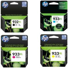 HP INK AND TONER CARTRIDGE 932XL SET ORIGINAL (932XL BLACK (CN053AA), 933XL CYAN (CN054AA), 933XL MAGENTA (CN055AA), 933XL YELLOW ORIGINAL (CN056AA))