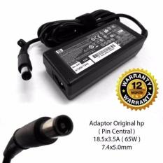 HP Original Adaptor Charger Notebook Laptop Compaq 2230s 2510p 2710p 6510b 6515b 6530b 18,5v 3,5A Jarum (7.4*5.0) Berikut Kabel Power