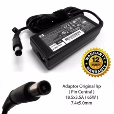 HP Original Charger Laptop 2133 Mini Note 2533t Mobile  2230s 2510p 2710p 6510b  6515b  6530b 6535b 6710b 6715b 6720s 8510p nc6320 nx7400 Compaq Presario CQ43 CQ42 CQ41 CQ45  CQ50 nc6400 18.5v 3.5A Jarum (7.4*5.0) Berikut Kabel Power
