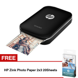 Harga Hp Sprocket Photo Printer Hitam Free Hp Zink Photo Paper 2X3 20Sheets Hp Asli