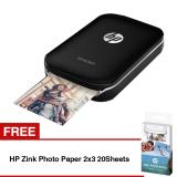 Beli Hp Sprocket Photo Printer Hitam Free Hp Zink Photo Paper 2X3 20Sheets Seken