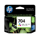 Beli Hp Tinta Printer 704 Color Baru