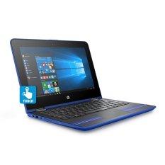 Toko Hp X360 11 U039Tu 11 6 Hd Touch Pentium Quad Core N3710 4Gbram Biru Lengkap
