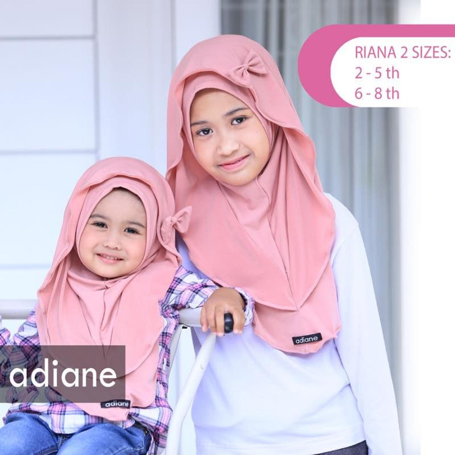 Harga Hqo Kerudung Hijab Jilbab Pashmina Instan Anak Riana Pink Baru Murah