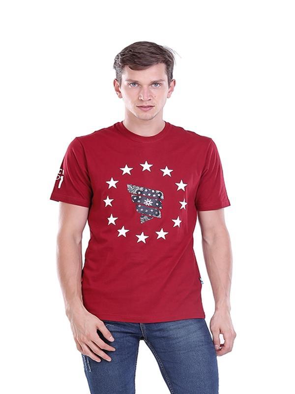 Toko Hrcn Hbg 0097 Kaos Oneck T Shirt Lengan Pendek Pria Bahan Cotton Combed Bagus Dan Keren Marun Jawa Barat