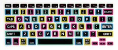HRH Fashion Penutup Keyboard Silikon Tahan Air Pelindung Kulit For MacBook Pro Retina 13 15 17 Air 33,02 Cm (hitam Besar FON) (International)