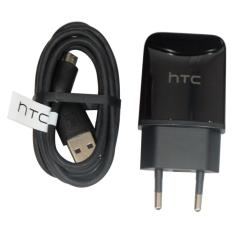 HTC Charger Type HTC TC P900 EU Traver Adapter Charger Head + Cable Micro USB Original - Hitam