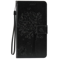 HTC Desire 825 Case, [FQY-TEC] [Hitam] [Embossed] C [PU Leather] dan [TPU] Dompet, Slot Kartu, Berdiri Case For HTC Desire 825 (5.5 Cm)-Internasional