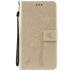HTC Desire 825 Case, [FQY-TEC] [Gold] [Embossed] C [PU Leather] dan [TPU] Dompet, Slot Kartu, Berdiri Case For HTC Desire 825 (5.5 Cm)-Internasional
