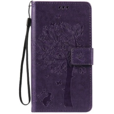 HTC Desire 825 Case, [FQY-TEC] [Ungu] [Embossed] C [PU Leather] dan [TPU] Dompet, Slot Kartu, Berdiri Case For HTC Desire 825 (5.5 Cm)-Internasional