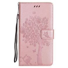 HTC Desire 825 Case, [FQY-TEC] [Rosegold] [Embossed] C [PU Leather] dan [TPU] Dompet, Slot Kartu, Berdiri Case For HTC Desire 825 (5.5 Cm)-Internasional