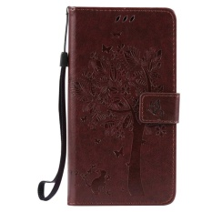 HTC Desire 830 Case, [FQY-TEC] [Coklat] [Embossed] C [PU Leather] dan [TPU] Dompet, Slot Kartu, Berdiri Case For HTC Desire 830 (5.5 Cm)-Internasional