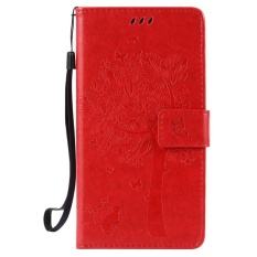 HTC Desire 830 Case, [FQY-TEC] [Merah] [Embossed] C [PU Leather] dan [TPU] Dompet, Slot Kartu, Berdiri Case For HTC Desire 830 (5.5 Cm)-Internasional