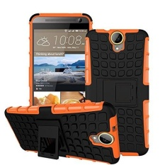 HTC ONE E9 Plus Case Heavy Duty Double Perlindungan Kasar Hybrid Shockproof Cover Case dengan Built-in Kickstand untuk HTC ONE E9 +-Intl