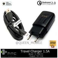 HTC Original Charger Micro USB P900 Fast 1.5 Ampere - Hitam