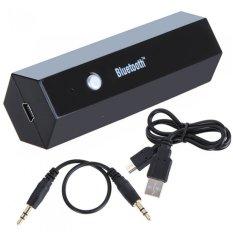 HUA Wireless Bluetooth Stereo Audio Musik Dongle Receiver Adapteruntuk Iphone IPad HIFI IPod A2DP AVRCP (Hitam)-Intl