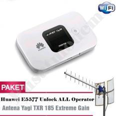 Harga Huawei E5577 Mifi 4G Lte 150Mbps Unlock Antena Yagi Txr 185 Dual Pigtail Paket Antena Modem Terbaru