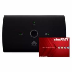 Huawei E5673 Modem MIFI 4G LTE Bundling Kartu Simpati 14GB - Hitam