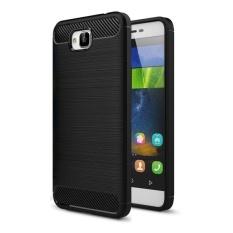Huawei Enjoy 5 dan Y6 Pro Brushed Tekstur Carbon Fiber TPU Case Pelindung (Hitam)-Intl