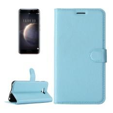 Huawei Honor Magic Lengkeng Tekstur Case Kulit Horisontal Flip dengan Pemegang dan Slot Kartu dan Dompet (Biru) -Intl